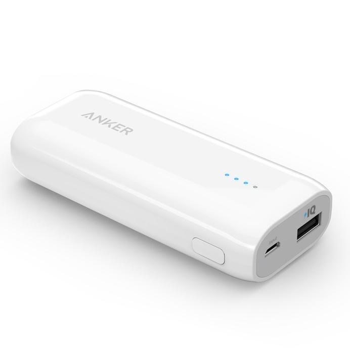 Anker Astro E1 コンパクト モバイルバッテリー ホワイト[5200mAh]