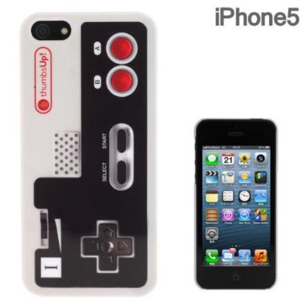 iPhone5 FLASHBACKS Old-School ハードケース (コントローラー/ホワイト)