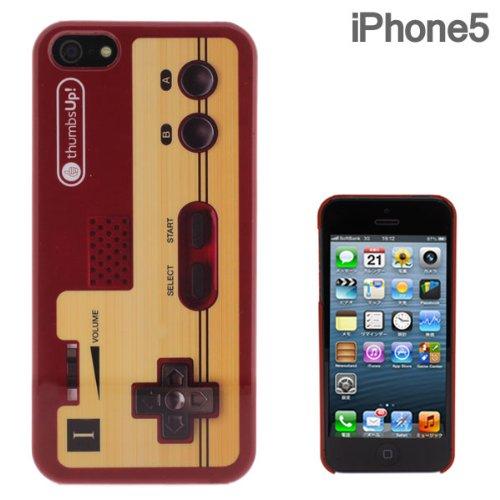 【iPhone SE/5s/5ケース】iPhone5 FLASHBACKS Old-School ハードケース (コントローラー/レッド)_0