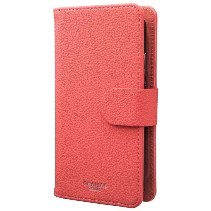 GRAMAS COLORS EveryCa2 マルチ対応PUレザー手帳型ケース Mサイズ/ピンク