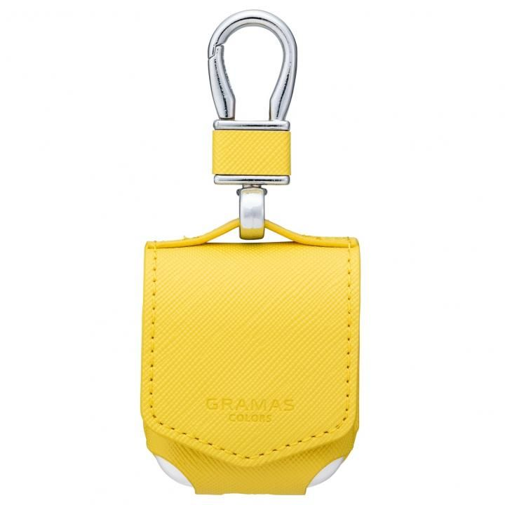 GRAMAS COLORS EURO Passione PU Leather Case for AirPods Yellow_0