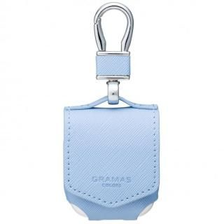 GRAMAS COLORS EURO Passione PU Leather Case for AirPods Light Blue