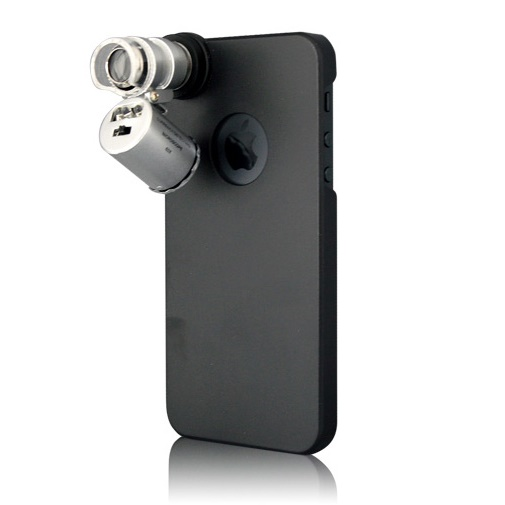 60倍顕微鏡付きケース  iPhone SE/5s/5