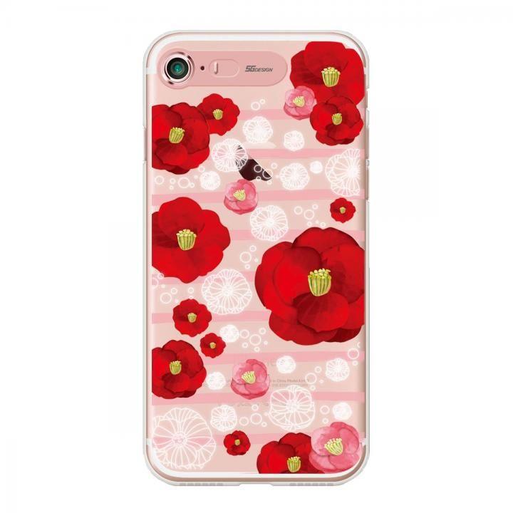 【iPhone7ケース】イルミネーション クリアTPUケース フラワー レッド iPhone 7_0