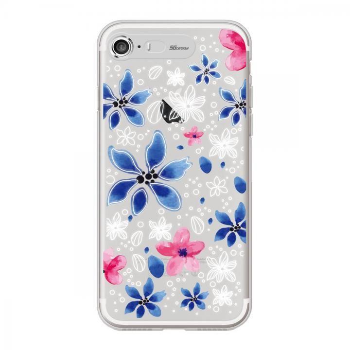 イルミネーション クリアTPUケース フラワー ブルー iPhone 7