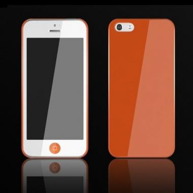 【iPhone SE/5s/5ケース】Zero 5(0.5mm)UltraThin Color  iPhone 5 Orange