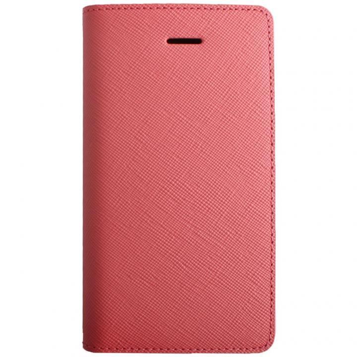 iPhone SE/5s/5 ケース LAYBLOC サフィアーノ本革手帳型ケース ベビーピンク iPhone SE/5s/5_0
