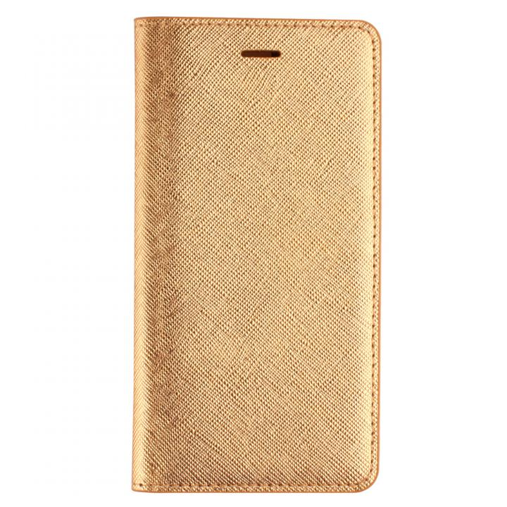 iPhone SE/5s/5 ケース LAYBLOC サフィアーノ本革手帳型ケース ゴールド iPhone SE/5s/5_0