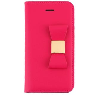 iPhone SE/5s/5 ケース LAYBLOC リボンクラシック 手帳型ケース ホットピンク iPhone SE/5s/5