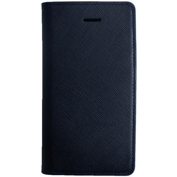 iPhone SE/5s/5 ケース LAYBLOC サフィアーノ本革手帳型ケース クラシックネイビー iPhone SE/5s/5_0