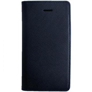 LAYBLOC サフィアーノ本革手帳型ケース クラシックネイビー iPhone SE/5s/5