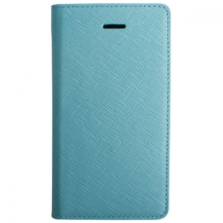 LAYBLOC サフィアーノ本革手帳型ケース シルクブルー iPhone SE/5s/5