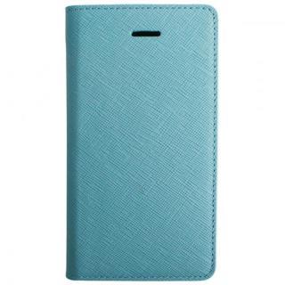 【iPhone SE ケース】LAYBLOC サフィアーノ本革手帳型ケース シルクブルー iPhone SE/5s/5