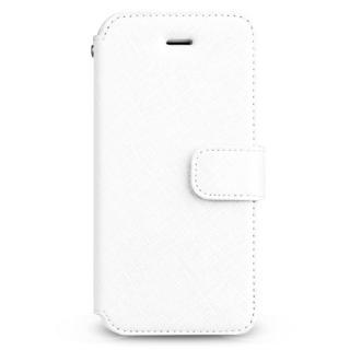 【iPhone SE/5s/5ケース】Prestige Minimal サフィアーノレザー手帳型ケース ホワイト iPhone SE/5s/5
