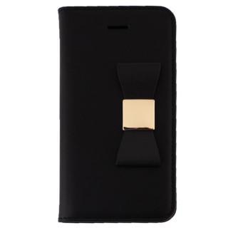 iPhone SE/5s/5 ケース LAYBLOC リボンクラシック 手帳型ケース ブラック iPhone SE/5s/5