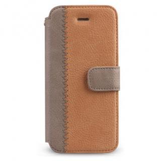 iPhone SE/5s/5 ケース Masstige ノート型デザイン手帳型ケース キャメル iPhone SE/5s/5