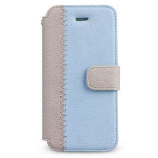 Masstige ノート型デザイン手帳型ケース ブルー iPhone SE/5s/5