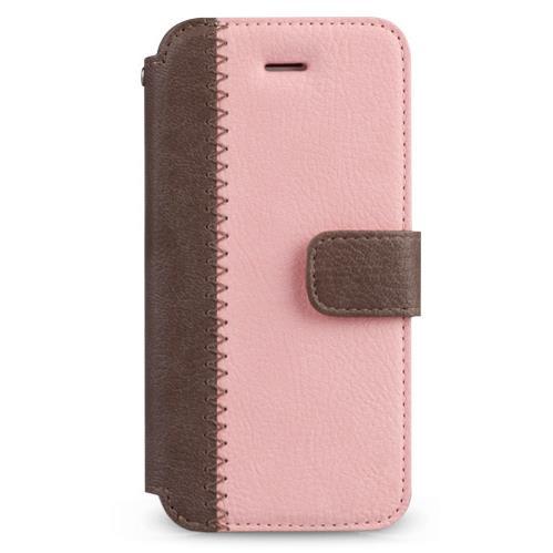 Masstige ノート型デザイン手帳型ケース ピンク iPhone SE/5s/5
