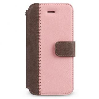 【iPhone SE/5s/5ケース】Masstige ノート型デザイン手帳型ケース ピンク iPhone SE/5s/5