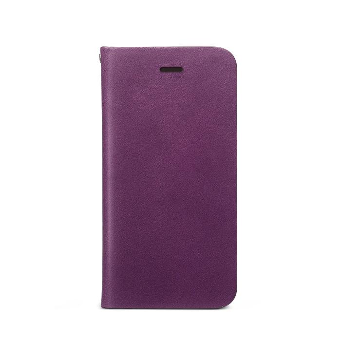 iPhone SE/5s/5 ケース Prestige Signature 天然カウハイドレザー手帳型ケース パープル iPhone SE/5s/5_0
