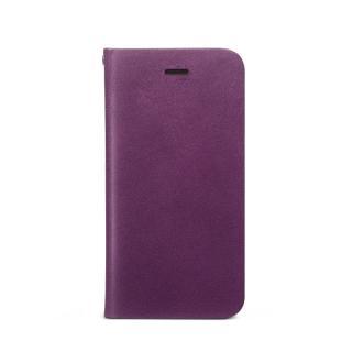 Prestige Signature 天然カウハイドレザー手帳型ケース パープル iPhone SE/5s/5