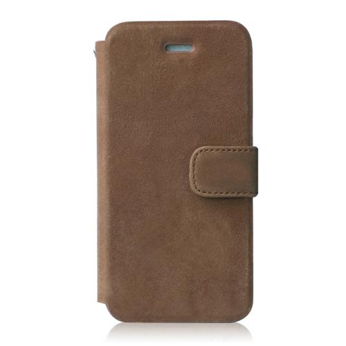 Prestige ビンテージレザー手帳型ケース  ヴィンテージブラウン iPhone SE/5s/5