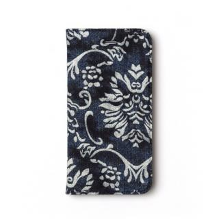 iPhone SE/5s/5 ケース デニム 手帳型ケース バロック iPhone SE/5s/5