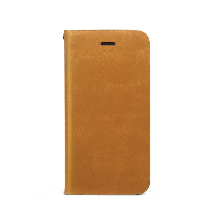 iPhone SE/5s/5 ケース Prestige Signature 天然カウハイドレザー手帳型ケース サンドベージュ iPhone SE/5s/5_0