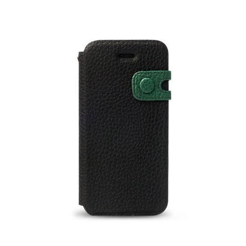 iPhone SE/5s/5 ケース Masstige Color Edge 手帳型ケース iPhone SE/5s/5 リアルブラック_0