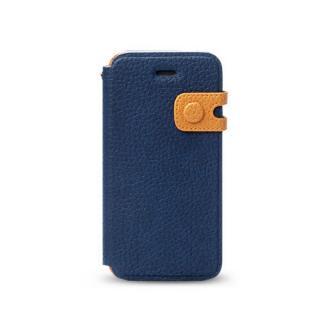 【iPhone SE ケース】Masstige Color Edge 手帳型ケース iPhone SE/5s/5 ロイヤルネイビー
