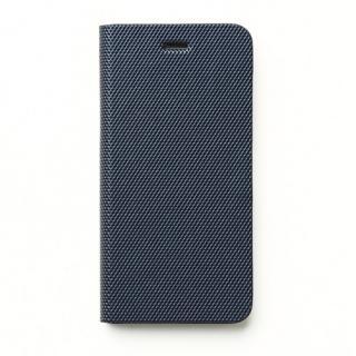 メタリックカラー イタリアンPUレザー手帳型ケース ネイビー iPhone SE/5s/5