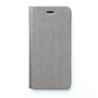 iPhone SE/5s/5 ケース メタリックカラー イタリアンPUレザー手帳型ケース シルバー iPhone SE/5s/5