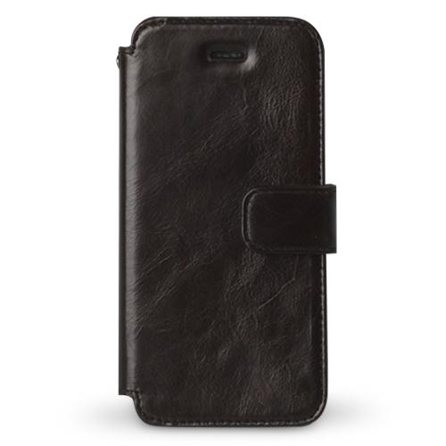 Estime 本革手帳型ケース ブラックチョコレート iPhone SE/5s/5