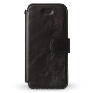 iPhone SE/5s/5 ケース Estime 本革手帳型ケース ブラックチョコレート iPhone SE/5s/5