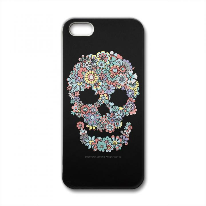 【iPhone SE/5s/5ケース】CollaBorn Flower Skull iPhone SE/5s/5ケース_0