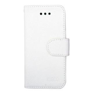 [新iPhone記念特価]スタンド機能付き手帳型合皮ケース ホワイト iPhone SE/5/5s