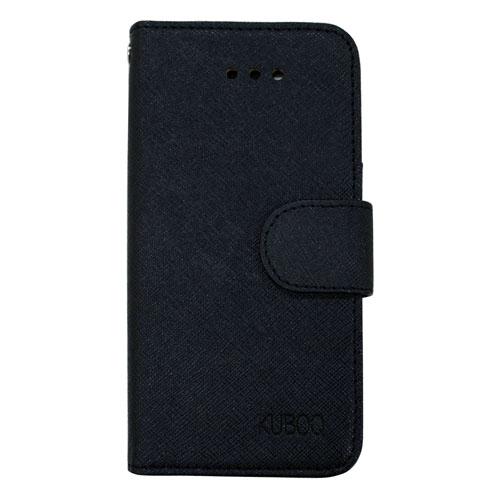 スタンド機能付き手帳型合皮ケース ブラック iPhone SE/5/5s