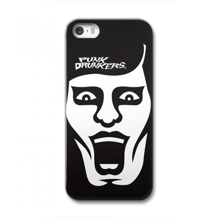 【iPhone SE/5s/5ケース】[PUNK DRUNKERS]CollaBorn iPhone SE/5s/5用ブランドコラボケース あいつ 白黒_0