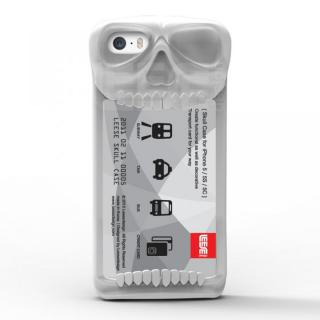 【iPhone SE/その他の/iPodケース】スカルケース ホワイト iPhone SE/5s/5c/5