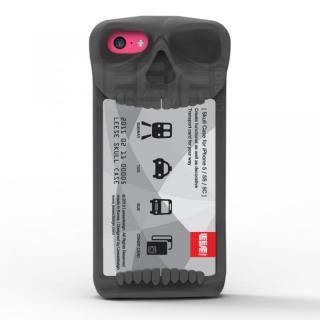 【iPhone SE/その他の/iPodケース】スカル ケース iPhone SE/5s/5/5c(グレイ)