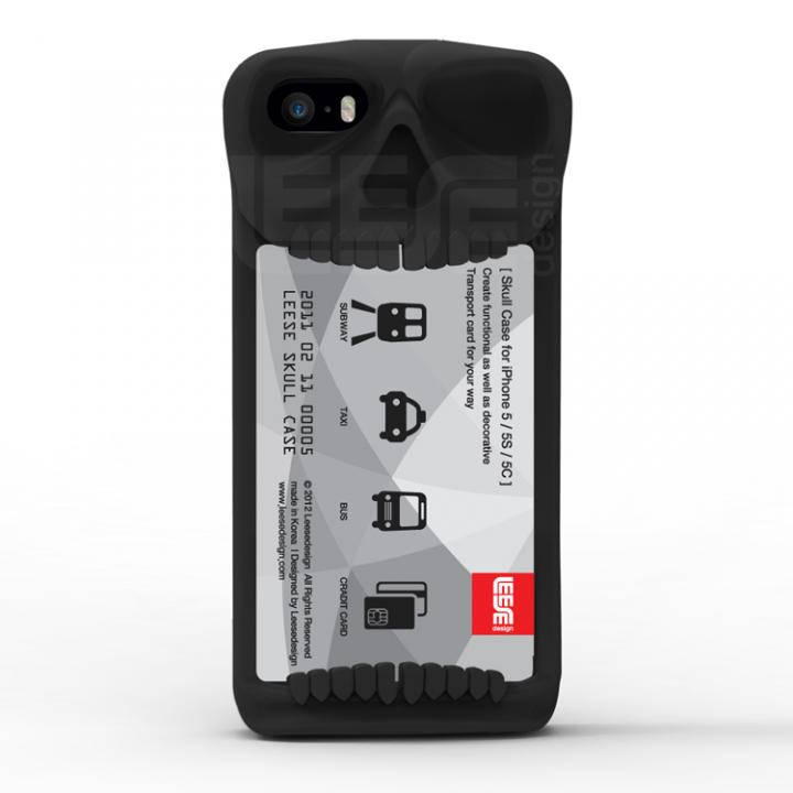 スカルケース ブラック iPhone SE/5s/5c/5