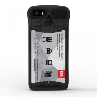 【iPhone SE/その他の/iPodケース】スカルケース ブラック iPhone SE/5s/5c/5