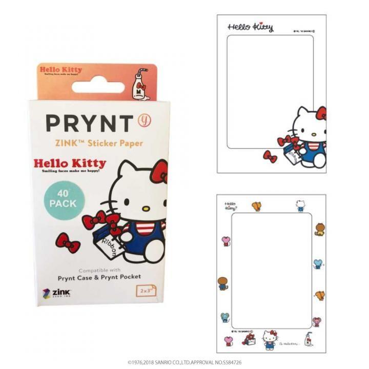 PRYNT POCKET用プリント用紙40枚 ハローキティバージョン フレーム A_0