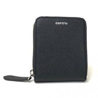 carcru(カルクル) ポップアップウォレット ラウンドファスナーカードケース ブラック