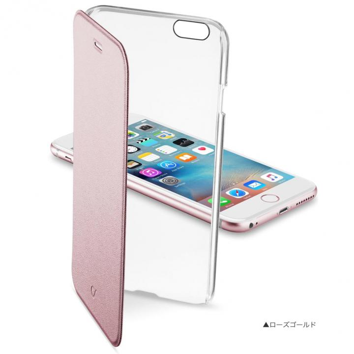 【iPhone6/6sケース】背面クリア手帳型ケース Clearbook ローズゴールド iPhone 6s/6_0