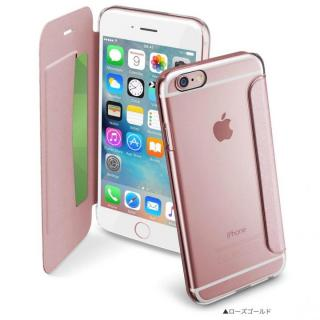 【iPhone6/6sケース】背面クリア手帳型ケース Clearbook ローズゴールド iPhone 6s/6_1
