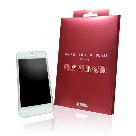 【0.33mm】 HARD SHIELD GLASS  iPhone SE/5s/5c/5 強化ガラスフィルム