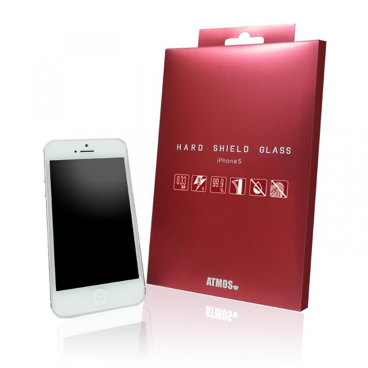 iPhone SE/5s/5 フィルム 【0.33mm】 HARD SHIELD GLASS  iPhone SE/5s/5c/5 強化ガラスフィルム_0
