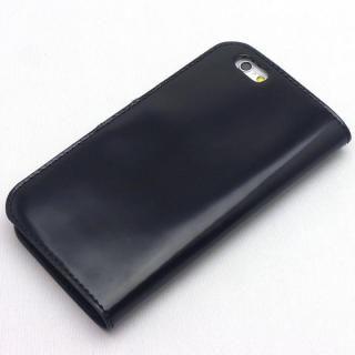 【iPhone8/7ケース】コードバン・レザー手帳型ケース ブラック iPhone 8/7