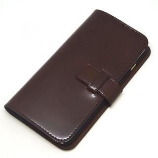 【iPhone8 Plus/7 Plusケース】コードバン・レザー手帳型ケース ブラウン iPhone 8 Plus/7 Plus